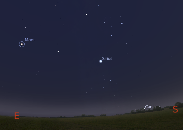 2 Bright Stars and a Planet in the East to Southeast Sky ...
